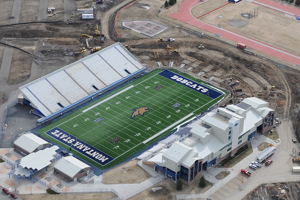 Montana State University Bobcat Stadium First Home Game in the Renovated Stadium adding 5,000 more seats 2011