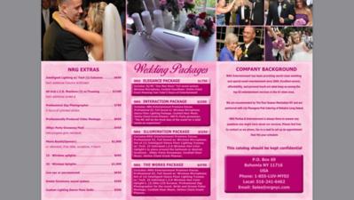 NRG Entertainment Wedding Brochure