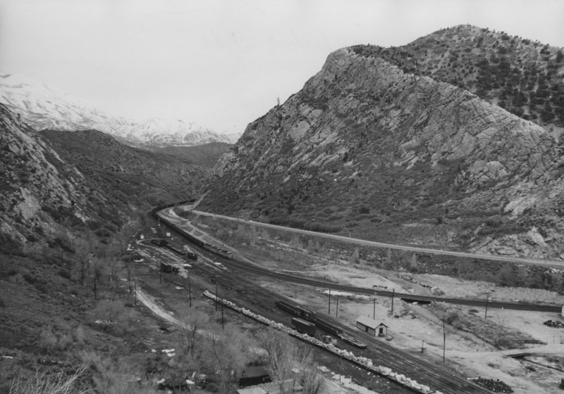 Thistle, Utah, in 1983, just before the slide. (Jim Ozment Photo)