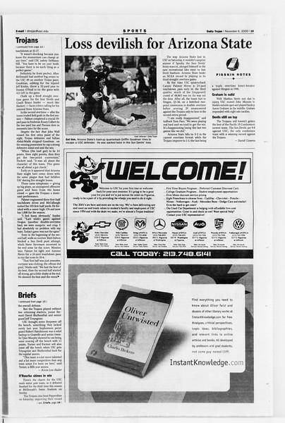 Daily Trojan, Vol. 141, No. 48, November 06, 2000