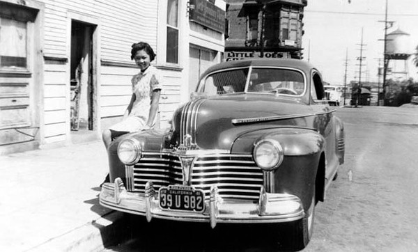 1941, Betty Quong on Car