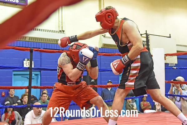 Bout 6 Jay Corcoran, Toronto, Can, Blue Gloves -vs- Scott Hackenberg, Kirkland, OH, Red Gloves, 170 Lbs., Masters
