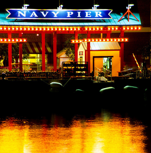 Navy Pier at night