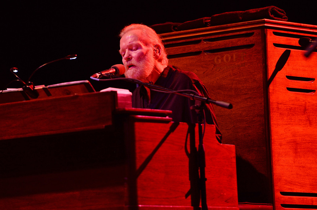 . Gregg Allman performs at Hard Rock Live! in the Seminole Hard Rock Hotel & Casino on January 4, 2015 in Hollywood, Florida.(Photo by Jeff Daly/Invision/AP)