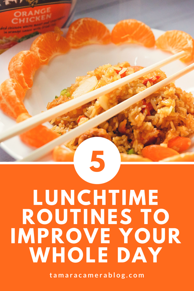 Lunchtime can be a special time. Make each day better by using these 5 routines that will make lunch better, plus your entire day!  #TaiPeiFrozenFood #IC #ad #friedrice #chowmein #chickenfriedrice