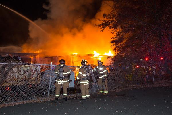 Fairfield NJ 5th Alarm, 1275 Bloomfield Ave. Building 3, 10-31-15
