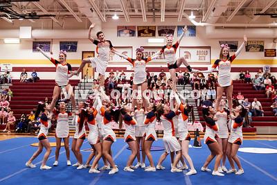 Cheer: Briar Woods Varsity @ BRHS 10.14.2017 (by Fred Ingham)
