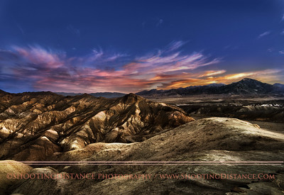 Dawn over Zabriskie Point, Death Valley