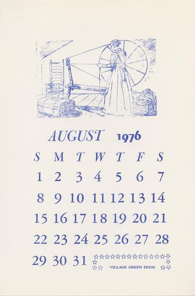August, 1976, Village Green