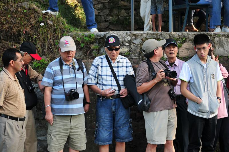 Japanese geriatrics waiting for the raft
