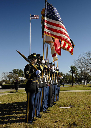 Fort Sam Houston National Cemetery at Christmas