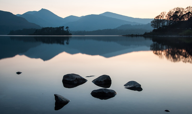 Calm reflections in Derwent Water