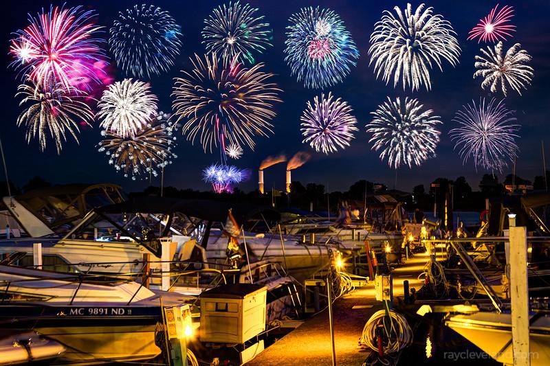 Fireworks over Lake Erie
