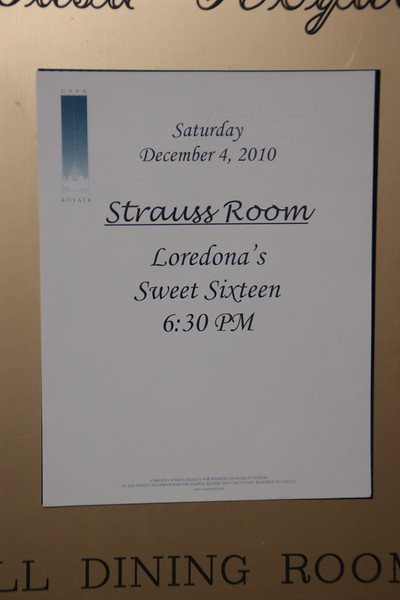 Loredona's Sweet 16 Party