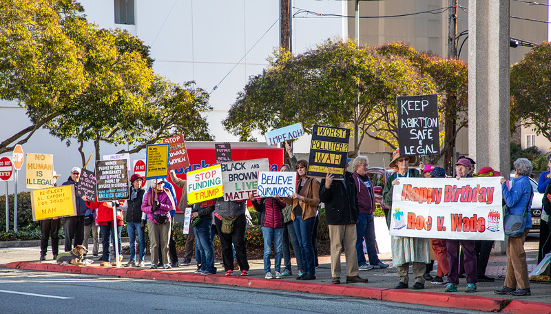 Solidarity Rally in San Mateo for Women's March 2020