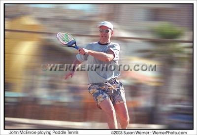 John McEnroe - Paddle Tennis