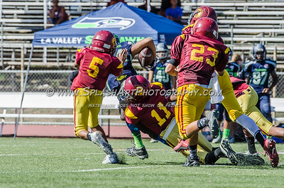 2015 Pasadena Trojans Jr. Midgets vs LA Valley 26Sep2015