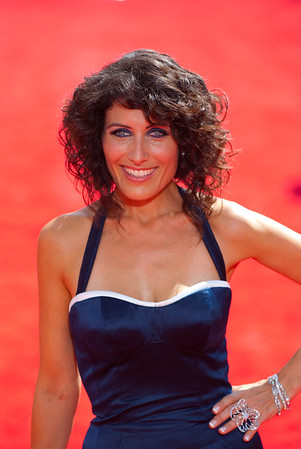 lisa edelstein on the red carpet at the Emmys - House