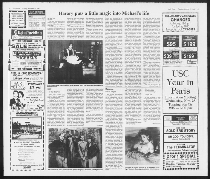 Daily Trojan, Vol. 97, No. 57, November 27, 1984