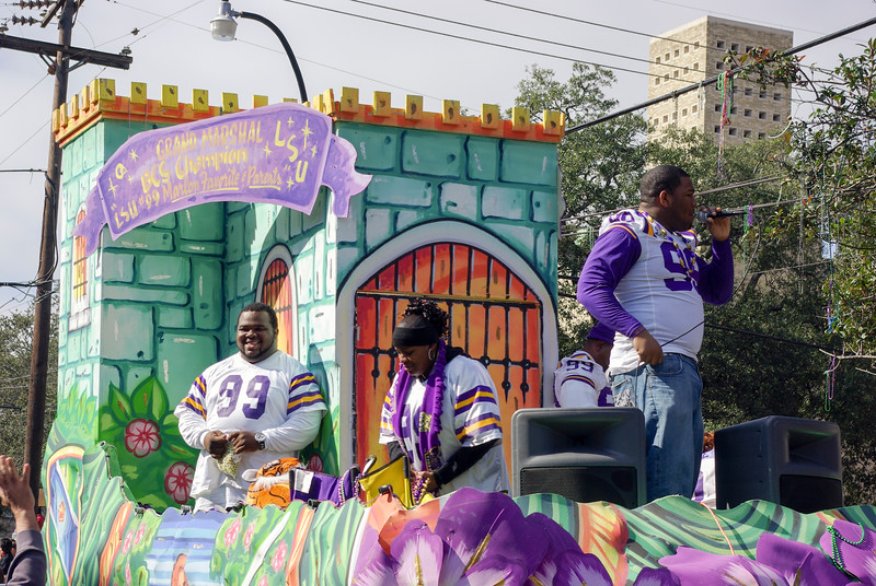 LSU Players on St Charles