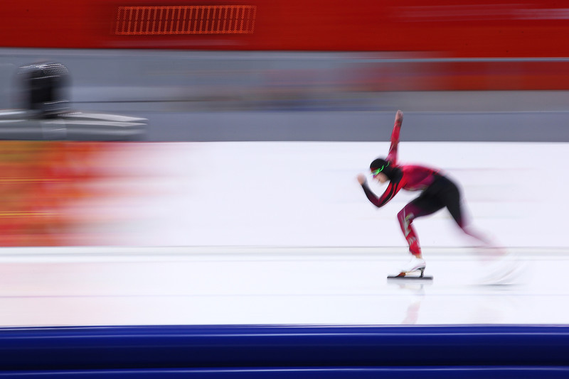 . Bente Kraus of Germany competes during the Women\'s 5000m Speed Skating event on day twelve of the Sochi 2014 Winter Olympics at at Adler Arena Skating Center on February 19, 2014 in Sochi, Russia.  (Photo by Streeter Lecka/Getty Images)