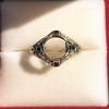 Art Deco Sapphire and Diamond Mounting 4