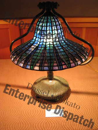 Dassel History Museum's replica Tiffany lamp exhibit