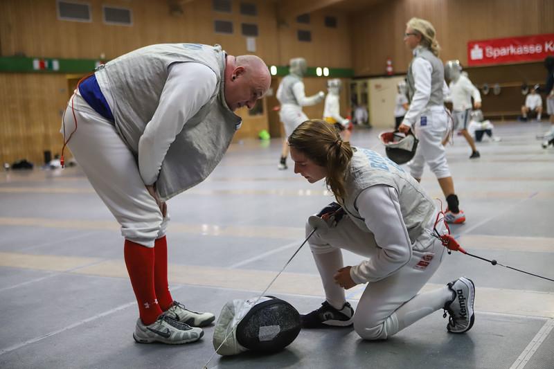 Cara BOHNEN (GER), Frank SCHWAIBOLD (GER)!fImpressions of the CTG Koblenz fencing  training on 26.08.19