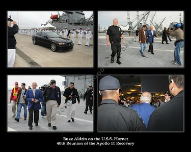 Buzz Aldrin on USS Hornet