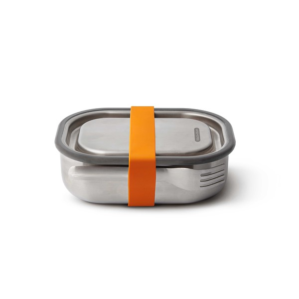 Stainless Steel Lunch Box orange Black Bum