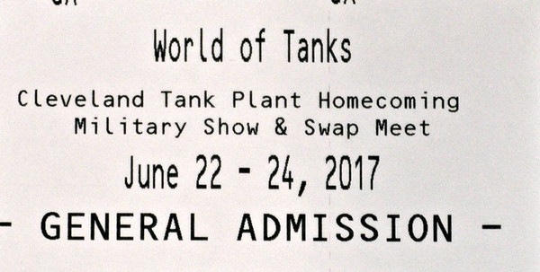 Cleveland Tank Plant - IX Center, June 24, 2017