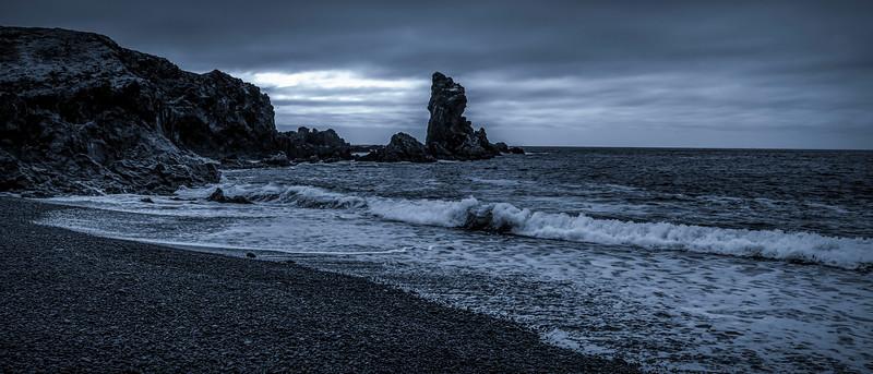 冰岛Djúpalónssandur沙滩,明星礁石