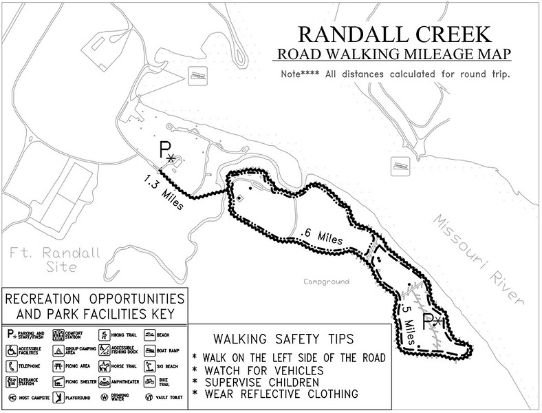 Randall Creek Recreation Area (Road Walking Map)