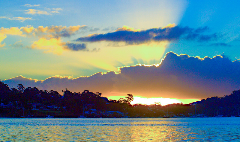 Sunbeams Sunrise Seascape Australia
