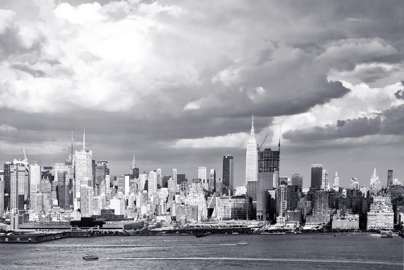 Manhattan Cityscape Black and White
