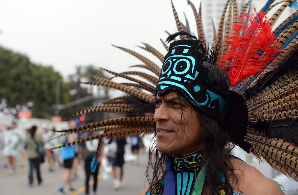 . Runners at the finish of the L.A. Marathon in Santa Monica March 17, 2013. (Thomas R. Cordova/Staff Photographer)