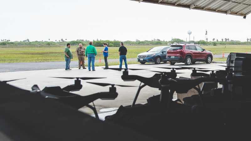 The TAMU-CC Lone Star UAS team meets at Port Mansfield, Tx.  To set up a precordinated launch accros the United States with all of the UAS test sites.