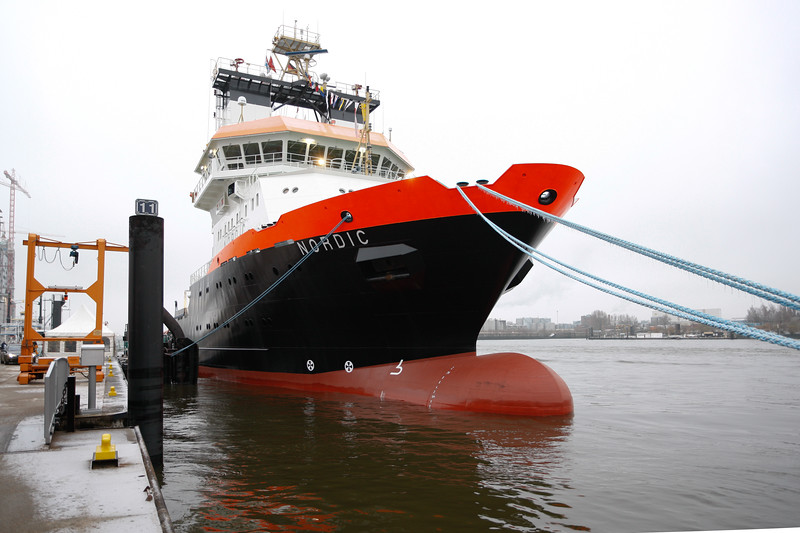 78m lang, 16m breit, 201 Tonnen Pfahlzug. Indienststellung 1.1.2011.