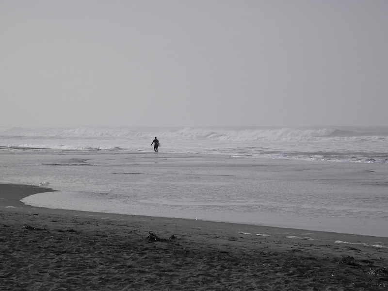 Surfer, Ocean Beach, San Francisco, November 2008