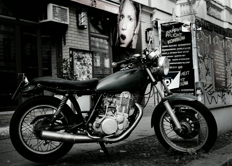 Poster and bike