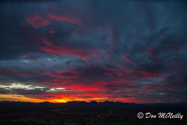 Sunrise at Lookout Mnt AZ 8-2-17