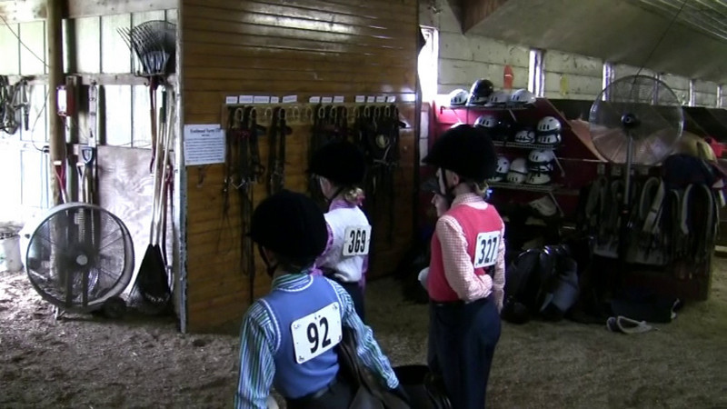 Backstage between competitions.