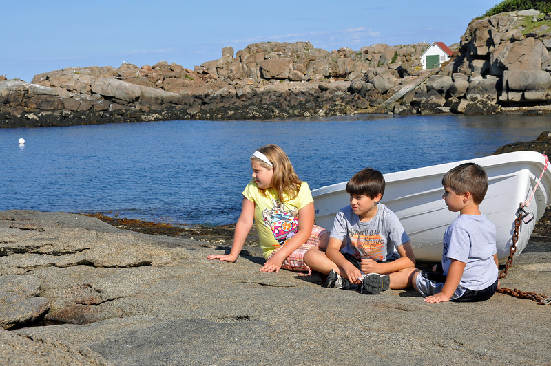 Found a boat at the base Nubble Lighthouse.