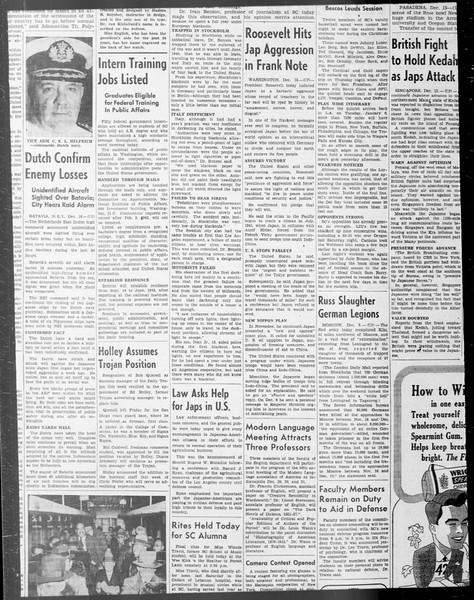 Daily Trojan, Vol. 33, No. 59, December 12, 1941
