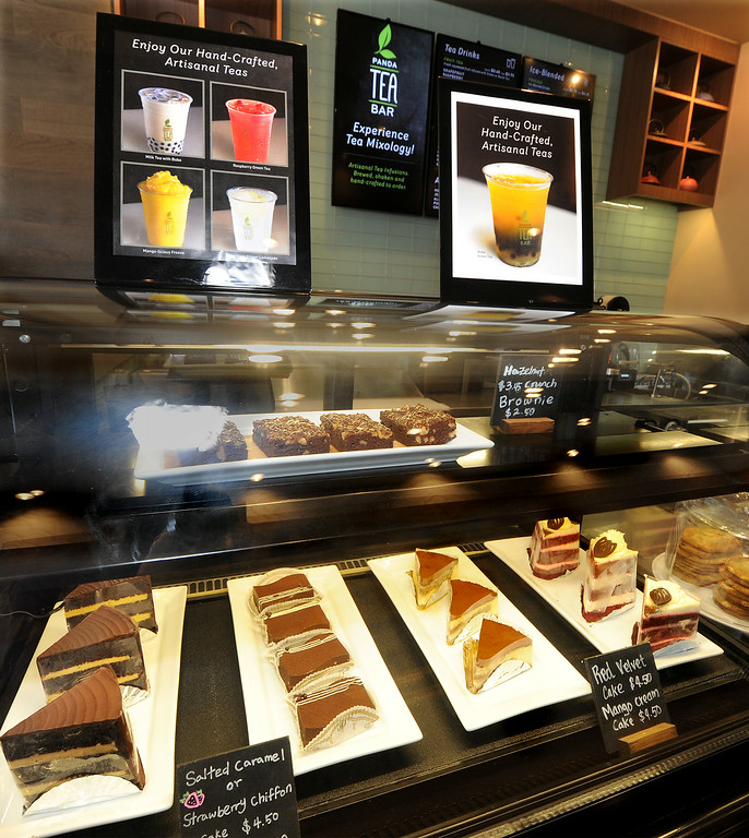 . Panda Tea Bar, expjerience Tea Mixology along with a great dessert at Panda Express, located at 3867 East Foothill Boulevard in Pasadena Thursday, August 21, 2014.  This unique restaurant is the  location of the chain\'s Innovation Kitchen. Here, consumers can try test cuisine and also contribute their own ideas for new dishes.(Photo by Walt Mancini/Pasadena Star-News)