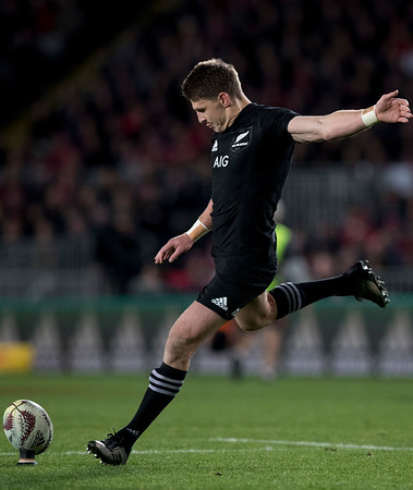 Beauden Barrett during game 7 of the British and Irish Lions 2017 Tour of New Zealand, the first Test match between  The All Blacks and British and Irish Lions, Eden Park, Auckland, Saturday 24th June 2017 (Photo by Kevin Booth Steve Haag Sports)  Images for social media must have consent from Steve Haag