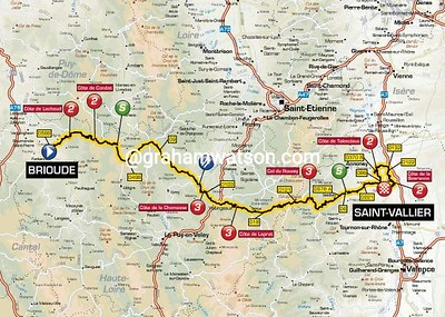 Paris-Nice Stage 4: Brioude > Saint Vallier, 199.5kms
