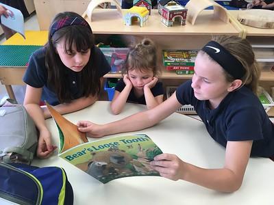 PreKD Reads With Fourth Grade Buddies