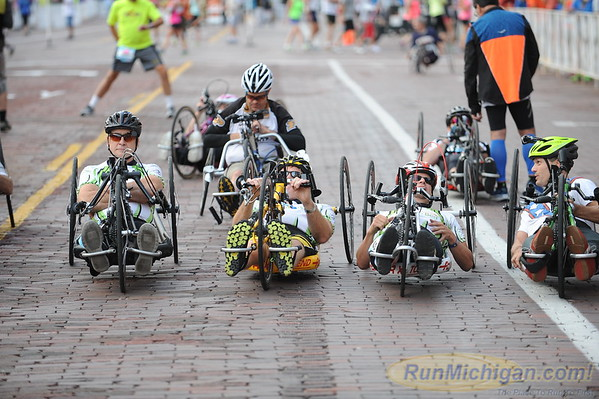 Wheeler and Handcycle Start, Gallery 1 - 2015 HealthPlus Crim Festival of Races
