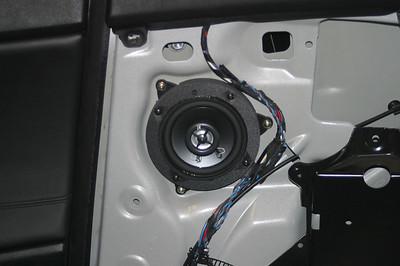 2006 BMW M3 Convertible Rear Side Panel Speaker Installation - USA